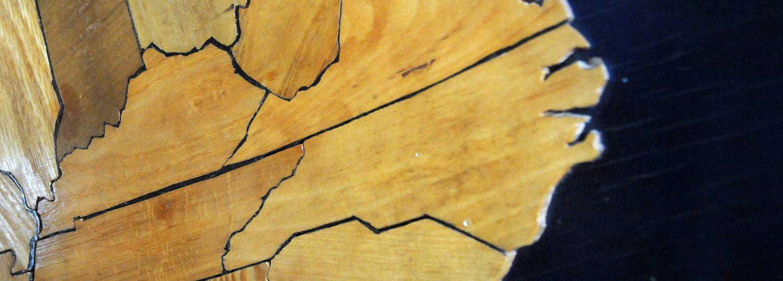 Wooden Map of North Carolina